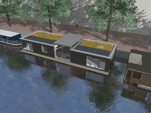 woonboot nieuwbouw Brouwersgracht